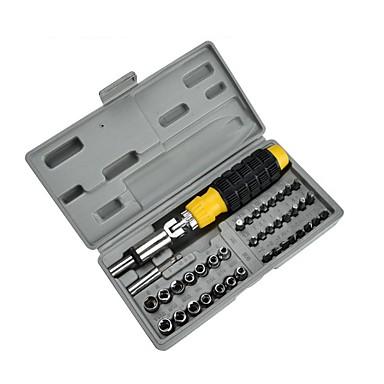 baratos Chaves de Fenda & Soquete-41pc casa de plástico alça combinação ferramenta manual combinação pacote chave de fenda set