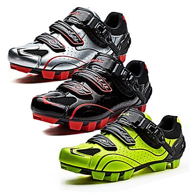 SANTIC Chaussures VTT Vélo tout terrain Nylon Respirable, Antidérapant, Ultra léger (UL) Cyclisme Noir / Blanc / Noir / Rouge / vert fluorescent Homme Chaussures Vélo / Chaussures de Cyclisme