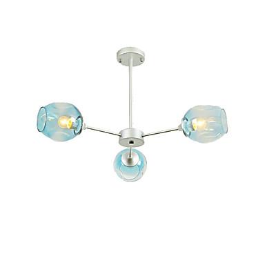 QINGMING® 3-Light Mini Lusteri Ambient Light Slikano završi Metal Glass Mini Style 110-120V / 220-240V