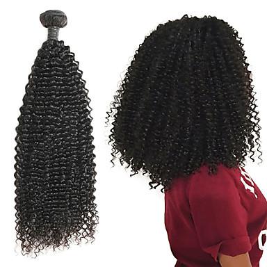 1 csomagot Brazil haj Kinky Curly 10A Remy haj Emberi haj tincsek 8-26 hüvelyk Természetes Emberi haj sző Legjobb minőség Újonnan érkező Hot eladó Human Hair Extensions Női