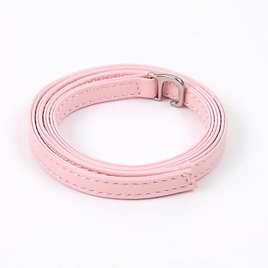 baratos Cadarços-2pçs Couro Ecológico Cadarços Mulheres Primavera Férias Vermelho / Rosa claro / Amêndoa