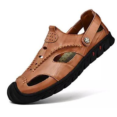 Homme Chaussures de confort Cuir Eté Eté Eté  s Noir / Marron / Kaki 6153d2