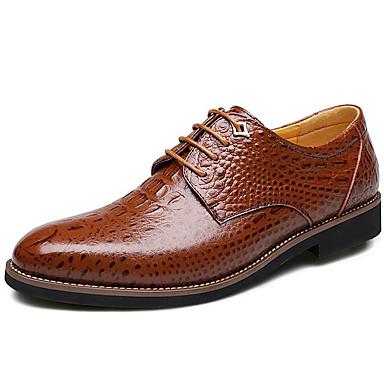 homme cuir / femme de chaussures en cuir homme de vache · hommes automne business / british oxfords réchauffent noir / Marron  · protection authentique 355799