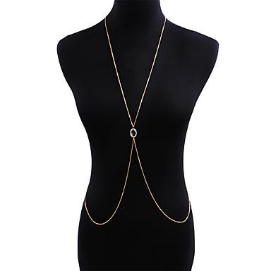 Žene Nakit za tijelo 80 cm Tijelo Chain / Belly Chain Zlato dame / Europska / pomodan Legura Nakit odjeće Za Klub / Bikini Ljeto