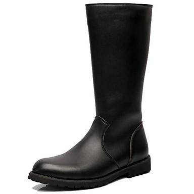 Analitico Per Uomo Fashion Boots Sintetico Autunno Inverno Casual - Formale Stivaletti Tenere Al Caldo Stivali Metà Polpaccio Nero - Serata E Festa #07268401 Eppure Non Volgare