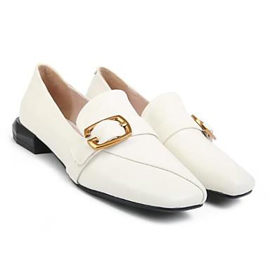Femme Femme Femme Chaussures de confort Cuir Nappa Eté Mocassins et Chaussons+D6148 Talon Bas Blanc | Sale  8e6232