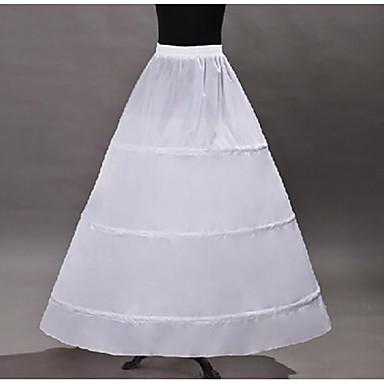أميرة ثوب نسائي تنورة منتفخة شديدة القصر تحت تنورة لوليتا كلاسيكي الأورجانزا أبيض / القرينول قماش قطني