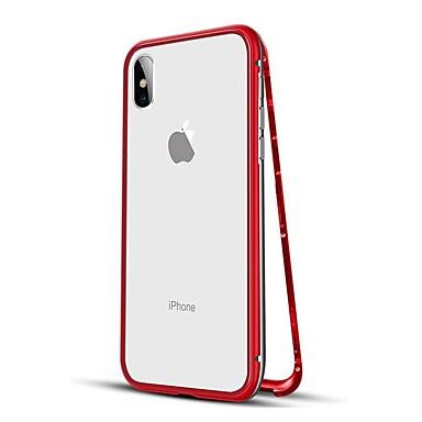 billige iPhone-etuier-Etui Til Apple iPhone XS / iPhone XR / iPhone XS Max Stødsikker / Magnetisk Fuldt etui Ensfarvet Hårdt Metal