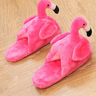 cheap Slippers-Women's Slippers House Slippers Casual Velvet Animal Print Shoes