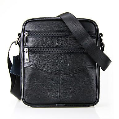 cheap Featured Deals-Men's Zipper Crossbody Bag Cowhide Black / Coffee