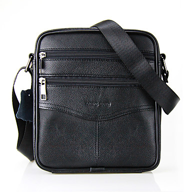 cheap Shoes Trends-Men's Zipper Crossbody Bag Cowhide Black / Coffee