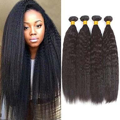 4 pakettia Brasilialainen Yaki Straight Remy-hius Aidot hiukset Hiukset kutoo Bundle Hair Yksi pakkaus ratkaisu 8-28 inch Luonnollinen väri Hiukset kutoo Hajuton Paras laatu Tulokas Hiukset Extensions