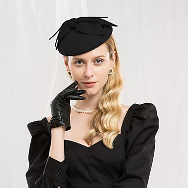 100% Lana Kentucky Derby Hat - Cappelli Con Leopardo - Fiocco 1pc Casual - Da Tutti I Giorni Copricapo #07012931 Una Custodia Di Plastica è Compartimentata Per Lo Stoccaggio Sicuro