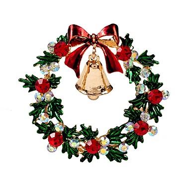 voordelige Dames Sieraden-Dames Broches Klassiek Bel Dames Stijlvol Klassiek Strass Broche Sieraden Goud Voor Kerstmis Dagelijks