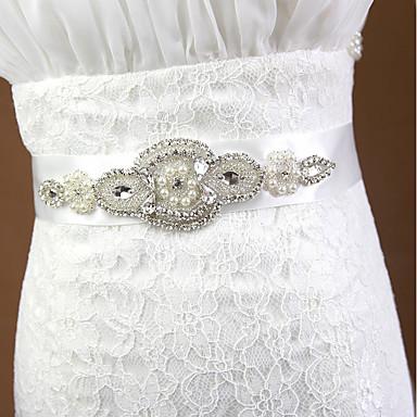 Poly / bomuldsblanding Bryllup / Speciel Lejlighed Ordensbånd Med Bjergkrystal / Imitationsperler Dame Skærf