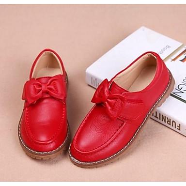 b6948799587 Chica Zapatos Cuero Primavera   Otoño Zapatos para niña florista Zapatos de  taco bajo y Slip-On Pajarita para Niños Negro   Rojo