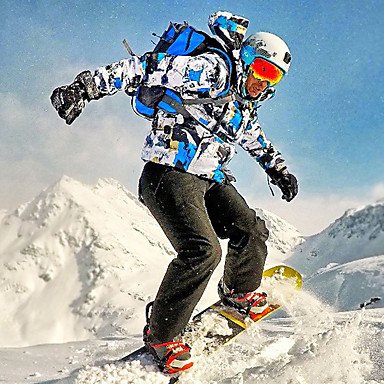 Wild Snow Men's Ski Jacket with Pants Windproof, Waterproof, Warm Ski / Snowboard / Winter Sports Clothing Suit Ski Wear / Breathable / Breathable