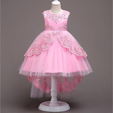 Princeza Vintage Haljine Kostim za party Djevojčice Kostim Plava / Pink / Fuschia Vintage Cosplay Bez rukávů