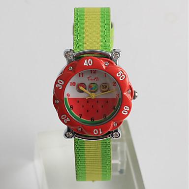 baratos Relógios Senhora-Casal Relógio Esportivo Japanês Quartzo Japonês Náilon Amarelo / Verde Trevo 30 m Fofo Analógico-Digital Desenho - Vermelho Um ano Ciclo de Vida da Bateria