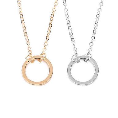 Žene Ogrlice s privjeskom Klasičan dame Stilski Jednostavan Glina Pozlaćeni Legura Zlato Pink 55 cm Ogrlice Jewelry 1pc Za Dnevno Spoj