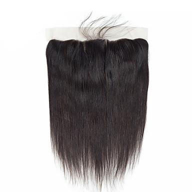 ブラジリアンヘア / バミーズヘア 4X13閉鎖 ストレート フリーパート / 中間部分 / 3パート コリアンレース 人毛 女性 / 最高品質 / ホット販売 デイリーウェア