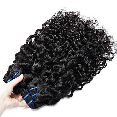 4 paketića Brazilska kosa Water Wave Ljudska kosa Netretirana  ljudske kose Headpiece Ljudske kose plete Styling kose 8-28 inch Prirodna boja Isprepliće ljudske kose novorođenče Stres i anksioznost