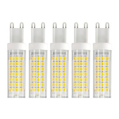 6 W LED corn žárovky 750 lm G9 T 88 LED korálky SMD 2835 Teplá bílá Chladná bílá 85-265 V, 5pcs