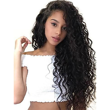 Remy kosa 13x6 Zatvaranje Lace Front Perika Duboko udaljavanje stil Brazilska kosa Loose Curl Natural Perika 150% 180% Gustoća kose Najbolja kvaliteta Gust Prirodna linija za kosu s isječkom Glueless