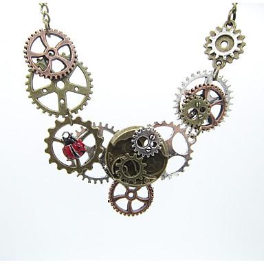 Žene Vintage ogrlica Vintage Style Gear dame Stilski Vintage Steampunk Legura Drevni Brončana 61 cm Ogrlice Jewelry 1pc Za Dar Ulica