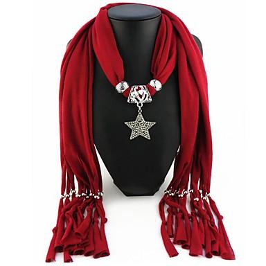Žene Ogrlica od šalova Long dame Europska Romantični slatko Poly / Cotton Crvena Plava Svijetlo zelena 180 cm Ogrlice Jewelry 1pc Za Ulica Nova Godina
