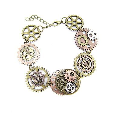 abordables Bracelet-Chaînes Bracelets Bracelets Vintage Femme Rétro Equipement Gros Fantaisie dames Steampunk Cinétique Bracelet Bijoux Marron pour Carnaval Plein Air