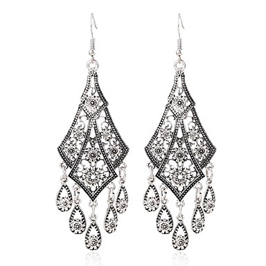 cheap Earrings-Women  039 s Hollow Out Drop Earrings Earrings Ladies Vintage  Sweet 95efe8f114da