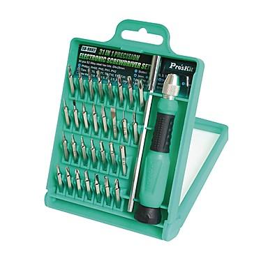 baratos Chaves de Fenda & Soquete-Pro'sKit Portátil 31 in 1 Multifunção Caixas de ferramentas Reparação em casa para conserto de computadores Reparação de telefone
