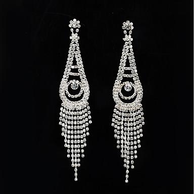 Žene Kubični Zirconia Viseće naušnice Klasičan Kićanka Naušnice Jewelry Pink Za Vjenčanje Party 1 par
