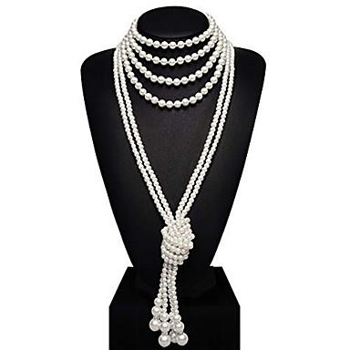 The Great Gatsby Vintage 1920s Vruće dvadesete Traka za kosu u stilu 20-ih Žene Kostim Vintage ogrlica Red and White / Obala / Blue / Bijela Vintage Cosplay Party Prom Bez rukávů / More Accessories