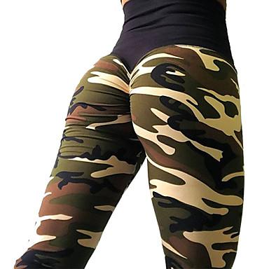 cda4464e02636 Men's Women's Fold Over Waist Running Tights Pink Amethyst Grey Sports Camo  / Camouflage High Rise Tights Leggings Zumba Running Fitness Activewear ...