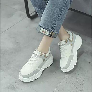 Femme Maille Automne Chaussures d'Athlétisme d'Athlétisme d'Athlétisme Course à Pied Talon caché Blanc / Gris   Techniques Modernes  1b6f80