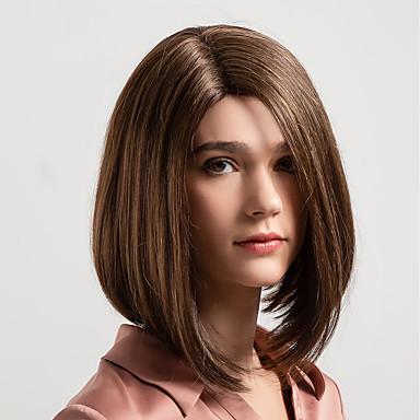 Human Hair Capless Wigs Human Hair Natural Straight Bob Middle
