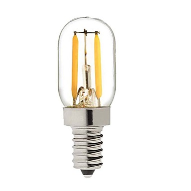 cheap LED Globe Bulbs-KWB 1 W LED Globe Bulbs 150-200 lm E14 S14 2 LED Beads COB Dimmable Warm White 220-240 V / 1 pc / RoHS
