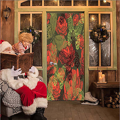Samolepky na dveře - 3D samolepky na zeď Vánoce / Prázdninový Vevnitř / Outdoor