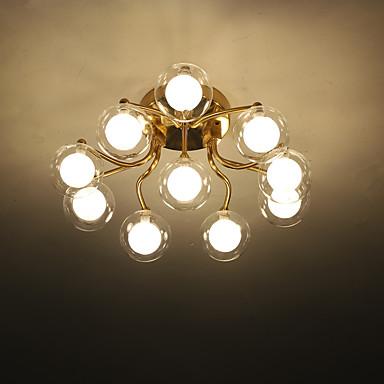 ZHISHU 10-Light Sputnik / Geometrické Vestavěná světla Tlumené světlo Galvanicky potažený Kov Sklo LED, Nový design 110-120V / 220-240V teplá bílá / Bílá