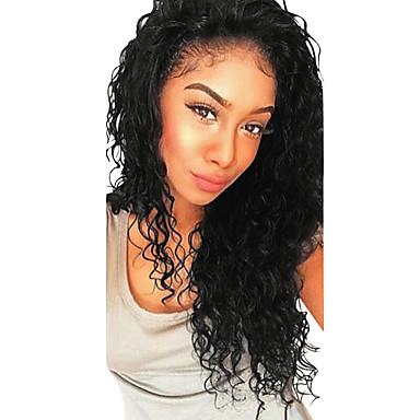billige Blondeparykker med menneskehår-Ekte hår Halvblonder uten lim Blonde Forside Parykk Med babyhår stil Brasiliansk hår Dyp Bølge Parykk 130% 250% Hair Tetthet Mørke røtter Naturlig hårlinje Til fargede kvinner 100% Jomfru Dame Medium