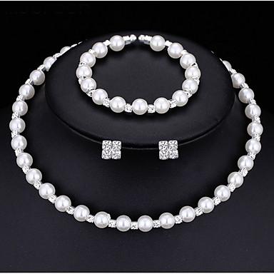 Žene Svadbeni nakit Setovi Klasičan Moda Slatka Style Imitacija bisera Naušnice Jewelry Obala Za Vjenčanje Party 1set