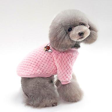e41ada7ab8bf Σκυλιά Γάτες Πουλόβερ Ρούχα για σκύλους Μονόχρωμο Μπλε Ροζ Βαμβάκι Στολές  Για Χειμώνας Γιούνισεξ Διατηρείτε Ζεστό Χαλάρωση