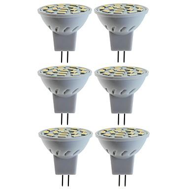billige Elpærer-SENCART 6pcs 5 W 80 W LED-spotpærer 260 lm MR11 MR11 15 LED perler SMD 5060 Dekorativ Varm hvit Kjølig hvit 12 V