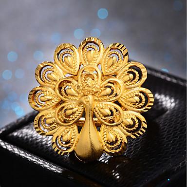 voordelige Ring-Dames Klassiek Ring Verstelbare ring Verguld Pauw Dames Luxe Hyperbool Modieus Modieuze ringen Sieraden Goud Voor Bruiloft Lahja