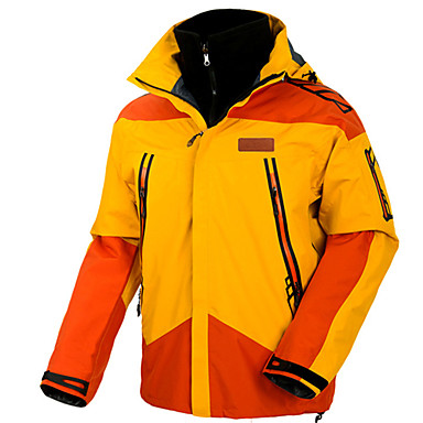男性用 スキージャケット 防水 保温 防風 スキー キャンピング&ハイキング スノーボード ポリエステル100% 冬物ジャケット スキーウェア
