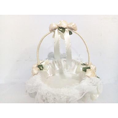 abordables Cérémonie de Mariage-Panier de fleurs Dentelle 22 cm Dentelle / Fleur 1 pcs