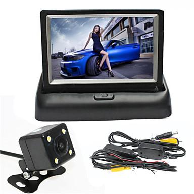 renepai® 4,3-дюймовый складной дисплей монитора + беспроводная камера 170 ° HD заднего вида автомобиля + широкий угол водонепроницаемая