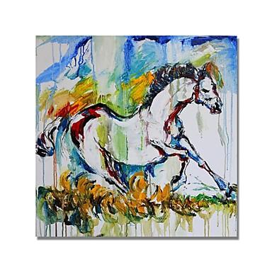 Hang oslikana uljanim bojama Ručno oslikana - Sažetak Comtemporary Moderna Uključi Unutarnji okvir / Prošireni platno